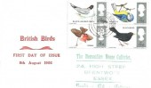 1966 British Birds, Display FDC, Brentwood Essex cds