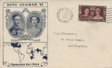 1937 King George VI Coronation, Illustrated FDC, Sutton Surrey Cancel