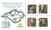 1992 Tennyson, Registered Alfred Lord Tennyson Isle of Wight FDC, Freshwater Bay Freshwater IOW cds