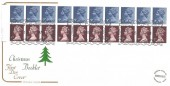 1978 QEII £1.60 Christmas Booklet, Cotswold FDC, Windsor Berks. H/S