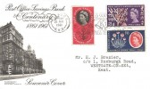 1961, Post Office Savings Bank Centenary, BPA/PTS FDC, Express Good Wishes by Greetings Telegrams Slogan Kilburn NW5