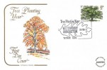 1973 British Trees, The Oak, Cotswold Official FDC, Tree Planting Year Westonbirt Arboretum Tetbury Glos. H/S