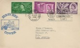 1958 Commonwealth Games, Illustrated FDC, British Empire Commonwealth Games Empire Village Barry Slogan