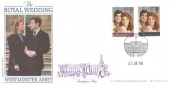 1986 Royal Wedding, Bradbury LFDC No.52 FDC, London SW1 Buckingham Palace H/S
