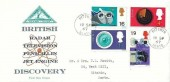 1967 British Discoveries, North Herts. Stamp Club FDC, Hitchin Herts. cds