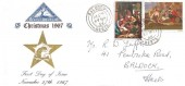 1967 Christmas, North Herts. Stamp Club FDC, Baldock Herts cds