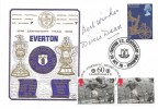 1978 Dawn Football Everton Cover, Doubled with 1996 pair of 19p Dixie Dean Stamps, Signed by Dixie Dean