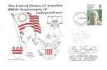 1976 American Bicentenary, Coloured Version Illustrated FDC, Southampton FDI