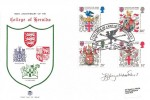 1984 Scottish Heraldry, Stuart FDC, College of Arms Quincentenary London EC4 H/S, Signed by Stamp Designer Jeffrey Matthews