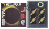 1999 Total Solar Eclipse, Steven Scott FDC, Solar Eclipse Eclipse Road London E13 H/S