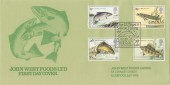 1983 British River Fish on Special John West Foods Ltd FDC