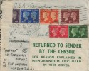 1940 Postage Stamp Centenary, Plain Censored Cover FDC, Fulham SW6 cds, Return to Sender By Censor Label