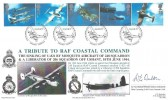 1997 Architects of the Air, Royal Naval Series FDC, The DE Havilland Mosquito  R E Bishop & His team Marham Norfolk H/S, Signed