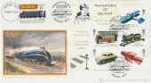 2003 Transports of Delight Miniature Sheet, Buckingham Official FDC, Making Models Real Margate Kent H/S, + Hornby £1 Model Railway Letter Service Stamp