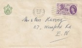 1960 General Letter Office, Boy Scout FDC, 3d Stamp value only, South Woodford E18 Cancel