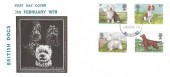 1979 Dogs D P Hathaway FDC, Haslemere Surrey Purple cds