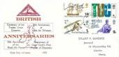 1968 British Anniversaries, North Herts. Stamp Club FDC, Hitchin Herts.cds