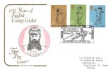 1973 County Cricket Centenary, Cotswold Official FDC, Downend Cricket Club Birthplace of  W. G. Grace Downend Bristol H/S
