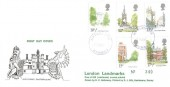 1980 London Landmarks, D P Hathaway FDC, Purple Haslemere Surrey cds