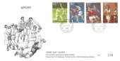 1980 Sporting Anniversaries , D P Hathaway FDC, Shottermill Haslemere Surrey cds