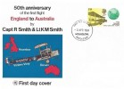 1969 Notable Anniversaries, Wessex 50th Anniversary of the First Flight England to Australia FDC, 1/9d Stamp only, Hounslow Middlesex FDI