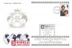 1981 Royal Wedding Ribble Travel FDC, 14p stamp only, Lancashire FDI