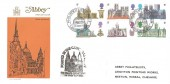 1969 British Cathedrals, Abbey FDC, Philatex St. Paul's London EC H/S, Posted in the Cathedral Crypt Cachet