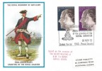 1972 Silver Wedding, Royal Regiment of Artillery Official FDC, The Royal Regiment of Artillery 250th Anniversary of the Granting of the Royal Charter British Force 1340 Postal Service H/S