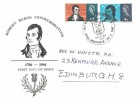 1966 Robert Burns, Illustrated FDC, That Man to Man The World O'er Shall Brothers Be for A' That Edinburgh H/S