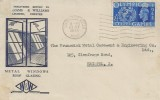 1948 Olympic Games Wembley, Williams & Williams Ltd. FDC, 2½d Stamp Only, Tunbridge Wells Cancel