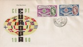 1960 Europa, Illustrated FDC, Chobham Woking Surrey cds