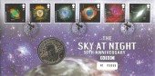 2007 The Sky at Night, Royal Mint Sir Patrick Moore CBE Astronomer BBC Medallion Official FDC, 50th Anniversary of the Sky at Night Greenwich London SE10 H/S