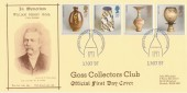 1987 Pottery Goss Collectors Club FDC, Stoke on Trent Philatelic Counter H/S