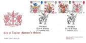 1984 Heraldry, City of London Freeman's School FDC, Heraldry Guildhall City of London H/S