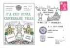 1972, FA Cup Centenary Year Arsenal V Leeds United, Dawn Football Cover, FA Cup Final Centenary Year Wembley H/S, Signed by Allan Clarke, scorer of the winning Goal