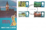 1966 British Landscapes, Big Ben Illustrated FDC, Fareham Hants FDI
