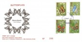 1981 Butterflies, D P Hathaway FDC, Haslemere Surrey Purple cds