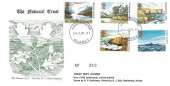 1981 The National Trust , D P Hathaway FDC, Haslemere Surrey Purple cds