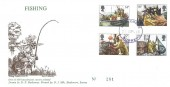 1981 Fishing, D P Hathaway FDC, Haslemere Surrey Purple cds