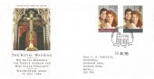 1986 Royal Wedding, Royal Mail FDC, Windsor Philatelic Counter H/S