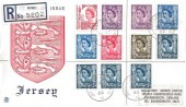 1969 Jersey Last Day Cover of British Postal Administration, Registered Stuart Jersey Cover, Jersey Channel Islands 16 cds