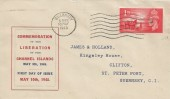 1948 Channel Islands Liberation, pair of Display Covers, Guernsey Cancel