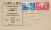 1948 Channel Islands Liberation, Illustrated Souvenir FDC, Jersey Cancel