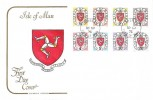 1973 Isle of Man Postage Dues, 2nd Printing A Set, Cotswold FDC, Douglas Isle of Man cds