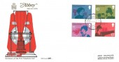 1976 Telephone, Abbey FDC, First Day of Issue Philatelic Bureau H/S