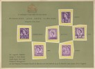 1958 Six Regional Definitive Stamps of Great Britain, Harrison & Sons Limited Presentation Card