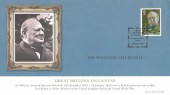 2006 National Portrait Gallery, Mercury Sir Winston Churchill FDC, 1st Class Churchill Stamp only, Great Britons on Canvas St.Martin's Place London H/S