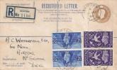 1946 Victory, 5½d Registered Envelope FDC, Skipton Yorks. cds