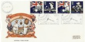 1988 Australian Bicentenary Cricketing Links Lords Official SP FDC, GB Cricketing Links Lords H/S