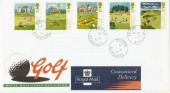1994 Golf Royal Mail FDC Troon cds as depicted on 35p Stamp